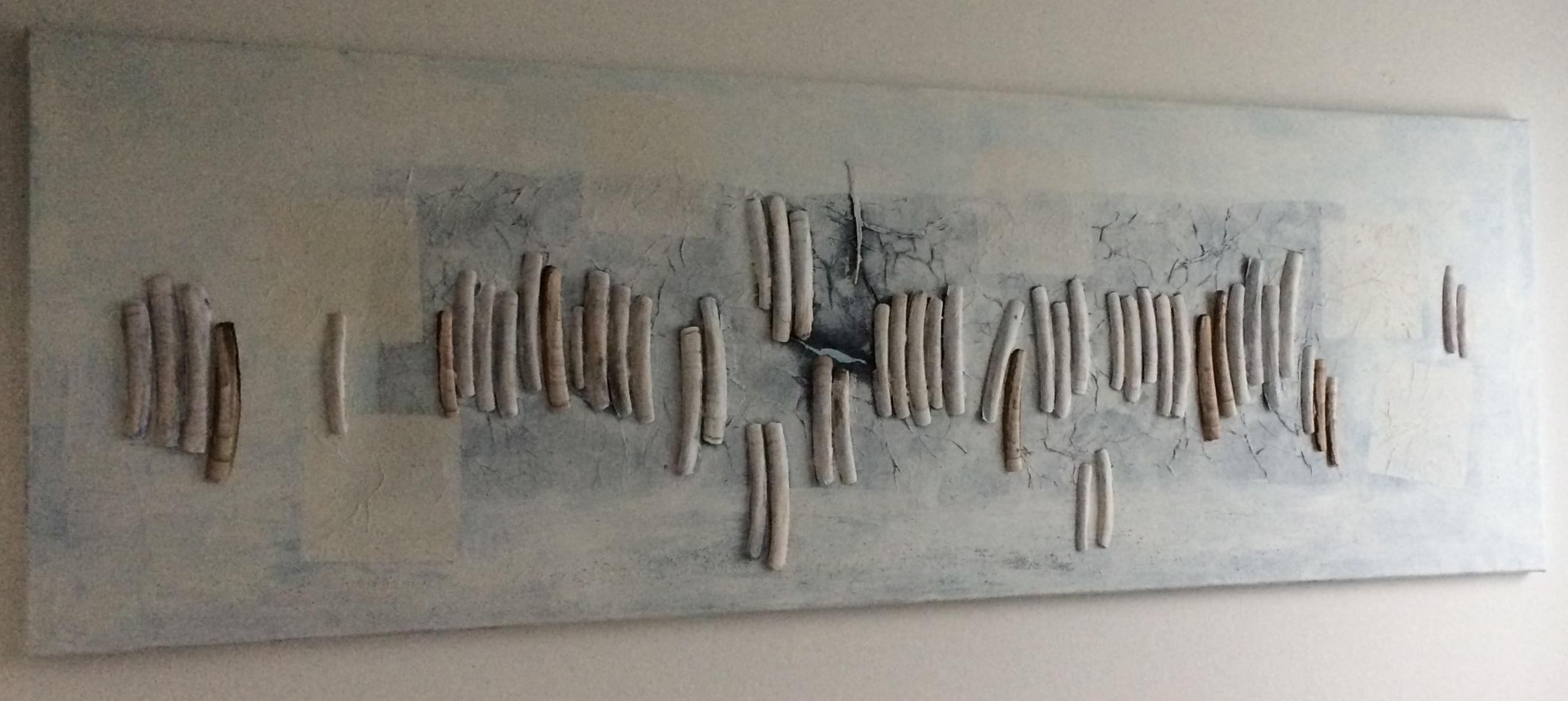 Komposition mit Pfahlmuscheln