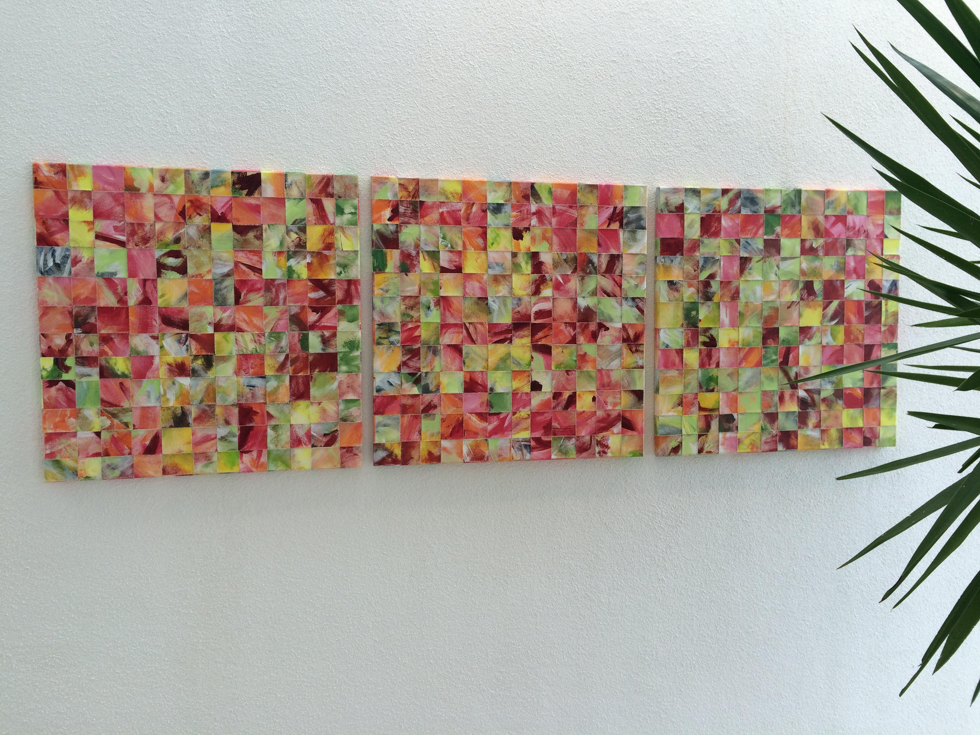 3er Mosaik rot-grün
